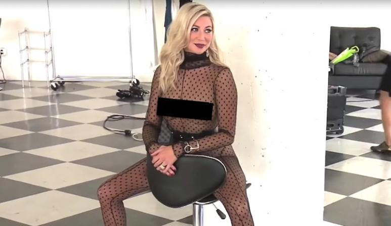 Stassi Schroeder poses nearly nude after her bout of nerves on Vanderpump Rules