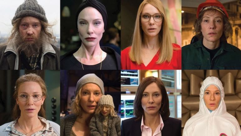 Cate Blanchett profiled during her various guises in Manifesto