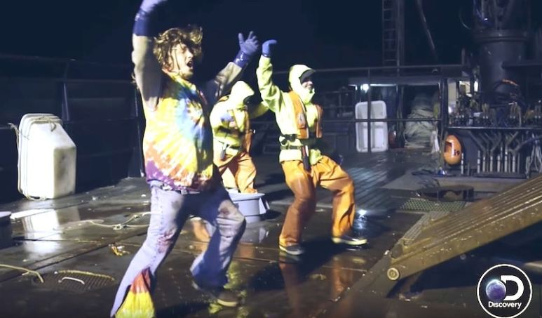 The Wizard crew are good sports as they amuse the Time bandit crew at midnight