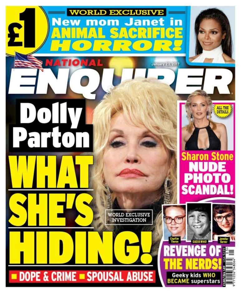 National Enquirer Dolly Parton cover