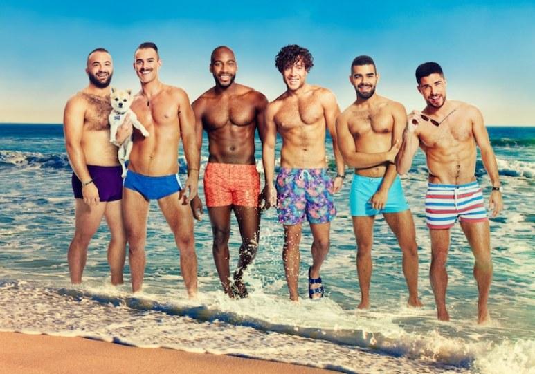 The six guys starring in Fire Island: Justin, Patrick, Khasan, Jorge, Brandon and Cheyenne