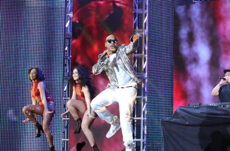 Flo Rida performs during the 2017 AVN Awards. Pic: Showtime