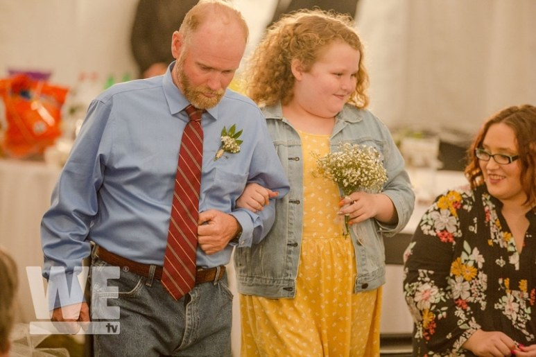 Honey Boo Boo walks down the isle with her dad Sugar Bear