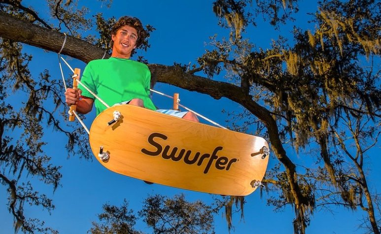 The Swurfer being used