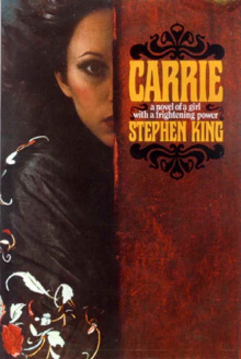 First edition cover of Stephen King's book Carrie