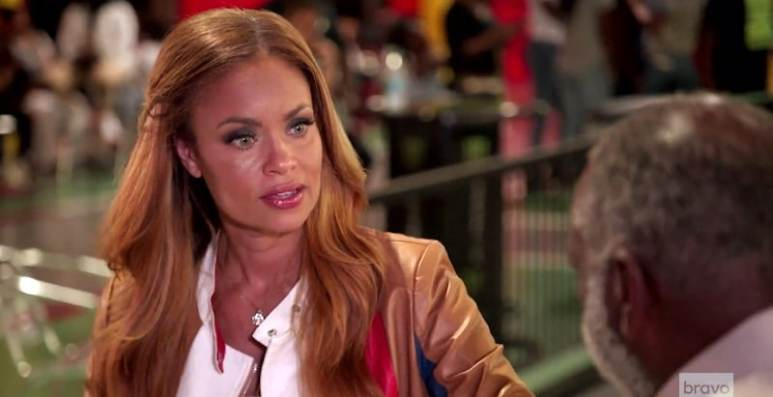 Gizelle Bryant talking to Raymond Huger on The Real Housewives of Potomac