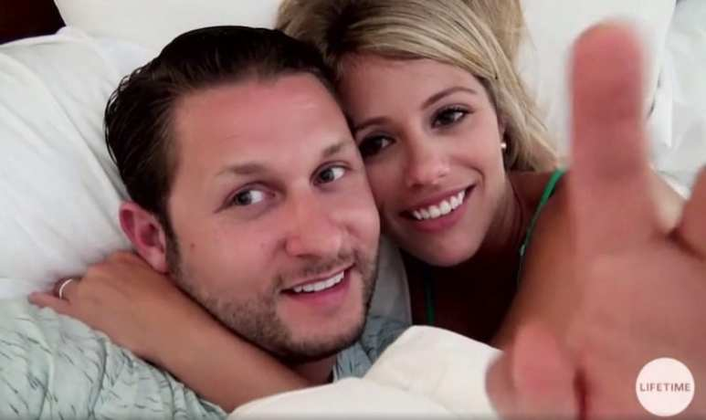 Ashley and Anthony in bed during their honeymoon on Married at First Sight