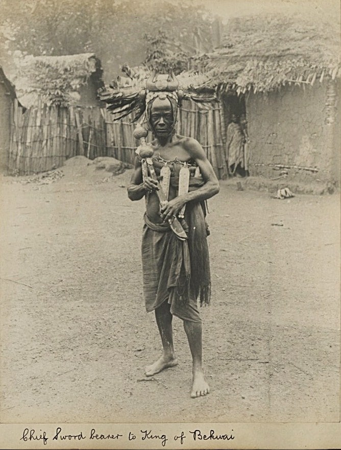 The master swordsman to the king, taken in the 1890s.