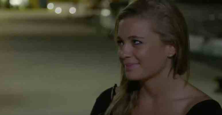 Malia reacts as Hannah tells her to strip now on Below Deck