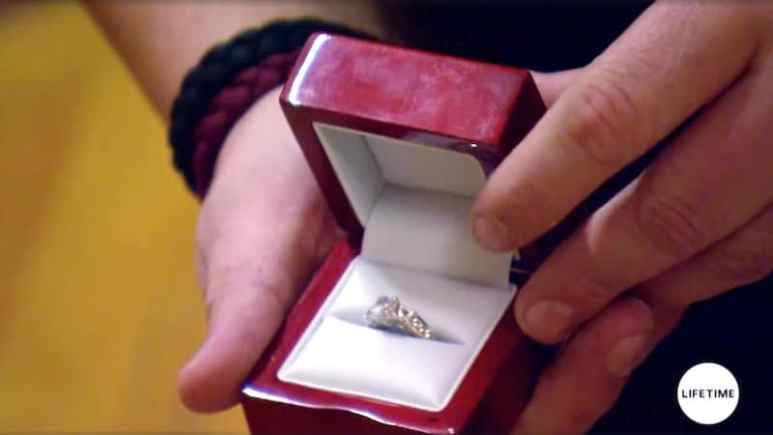 The ring Austin buys Tiffani to ask for her hand in marriage