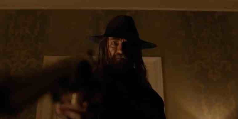 Cowboy from Hell points guns on Preacher