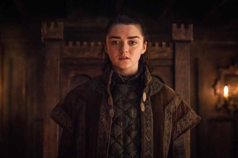 Arya Stark looking at the camera