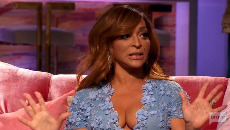 Karen Huger talking on The Real Housewives of Potomac reunion
