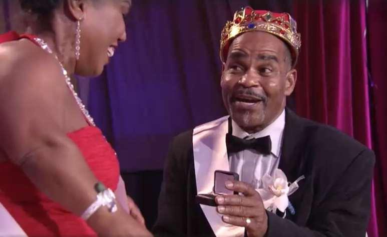 Kerwin proposing to Tonya Banks on the Little Women: LA season finale