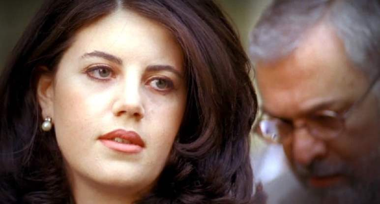 Monica Lewinsky during the scandal