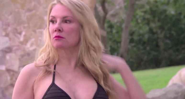 Ramona Singer in a black bikini on The Real Housewives of New York City