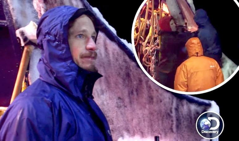 Dean and, inset, the fight on Deadliest Catch