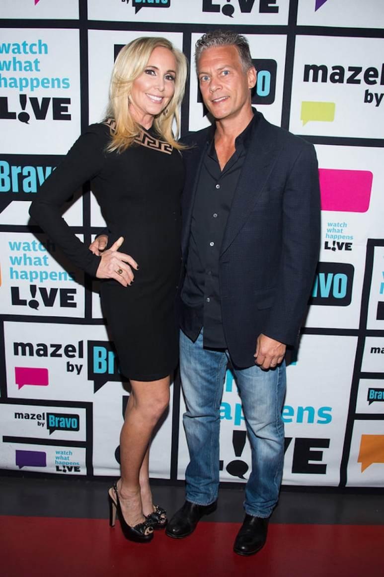 A slimline Shannon posing with husband David