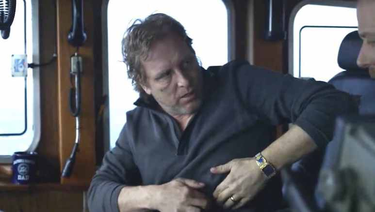 Sig Hansen touching his chest on Deadliest Catch