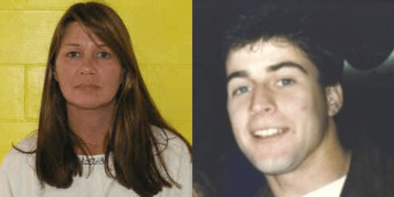 Mugshot of Theresa Voss and photo of Troy Temar smiling