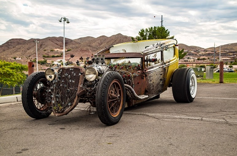 "Picture of the ""rose"" car Steve built for Welder Up general manager Joe Giamanco and his son"