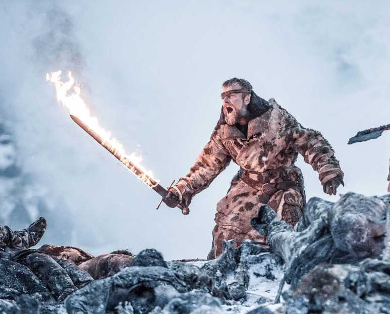 Beric Dondarrion of the Brotherhood Without Banners lights it up