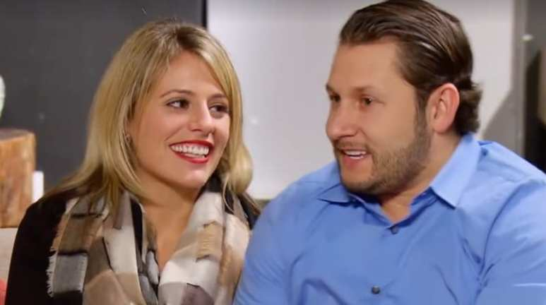 Ashley and Anthony sitting together on last night's Married at First Sight reunion