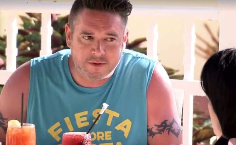 Matt arguing with Briana on Little Women LA: Couples Retreat