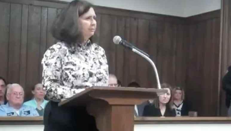 Randy Scheffield's sister speaking in court