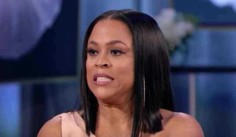 Shaunie O'Neal grimacing on the Basketball Wives reunion