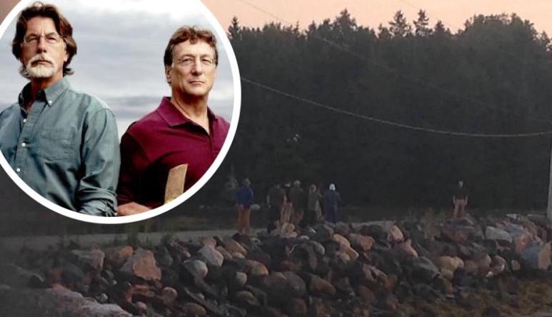 A film being shot for The Curse of Oak Island and Rick and Marty Lagina
