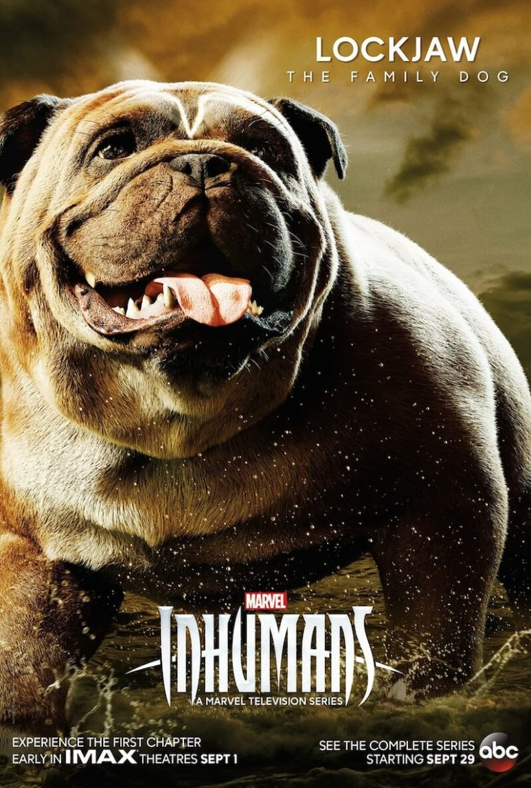 Lockjaw on a Marvel's Inhumans poster