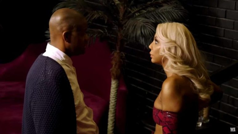 Tamar and Vince in a heated argument of Vince's managerial moves