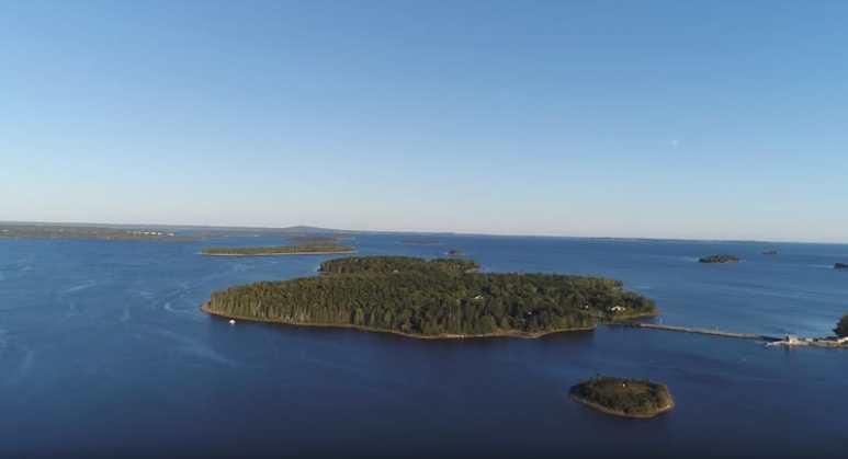 Oak Island seen from a drone