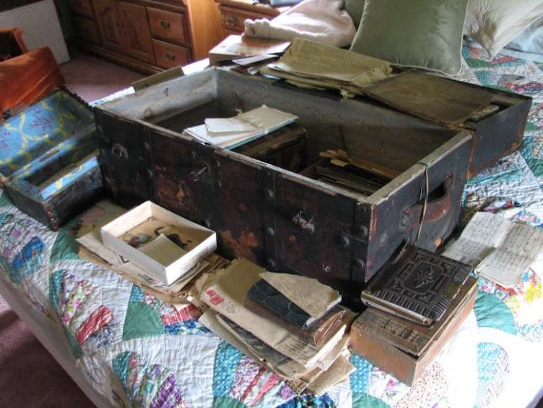 Documents from inside James Anderson's sea chest