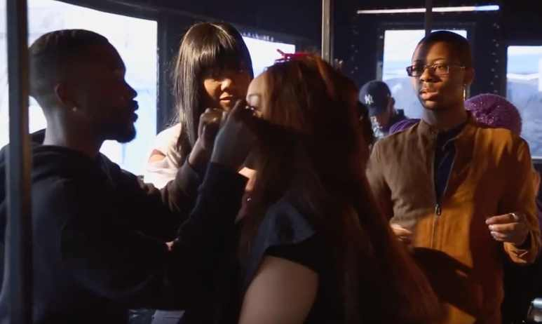Charmaine's crew do her hair and makeup