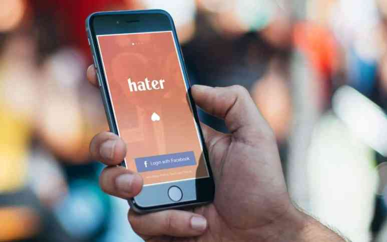 Hater app on phone
