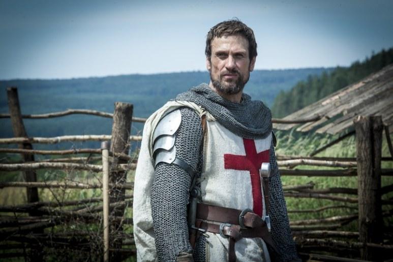 Templar Knight Tancrede (Simon Merrells) from HISTORY's New Drama Series Knightfall.