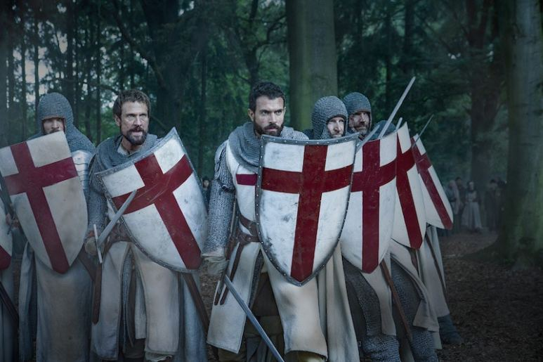The Templars led by Landry (Tom Cullen) from HISTORY's New Drama Series Knightfall.