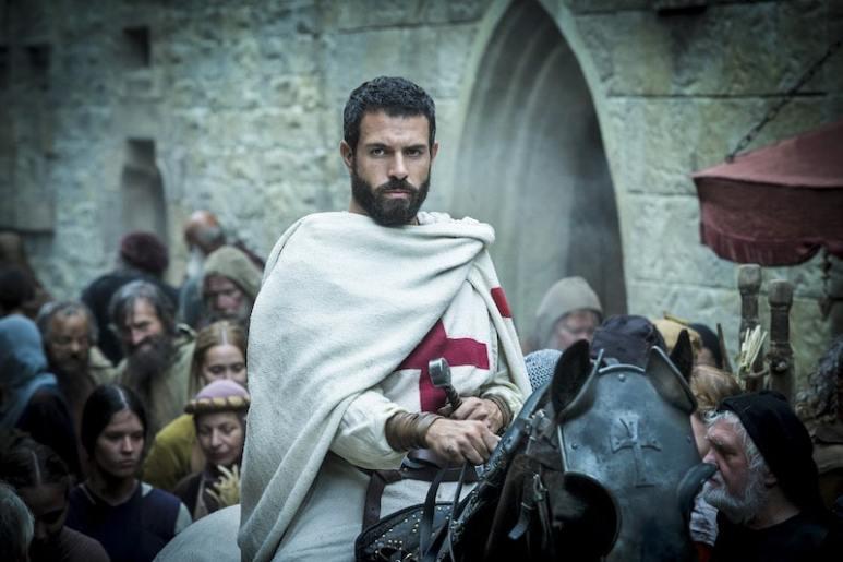 Templar Knight, Landry, (Tom Cullen) from HISTORY's New Drama Series Knightfall.
