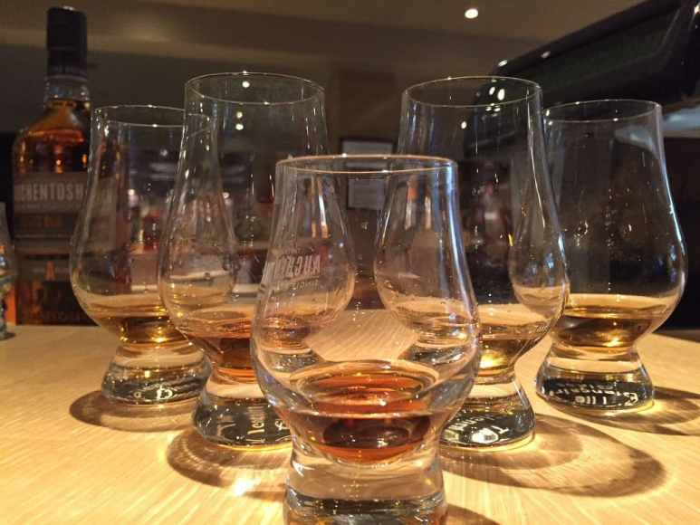 A flight of Auchentoshan top sellers