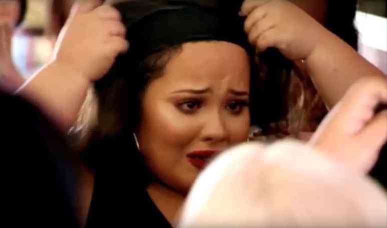 Sam crying as she takes off wig on Little Women: Atlanta