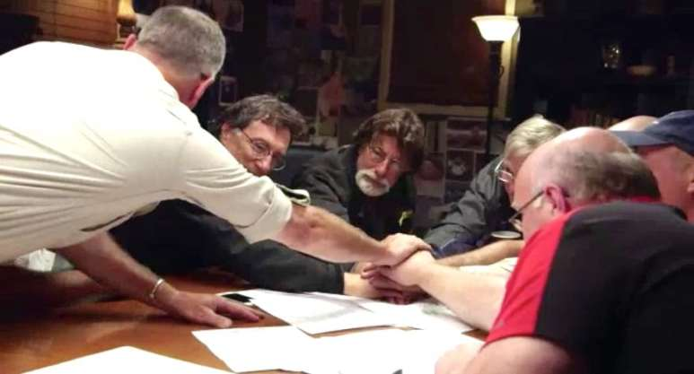 The Curse of Oak Island team in War Room