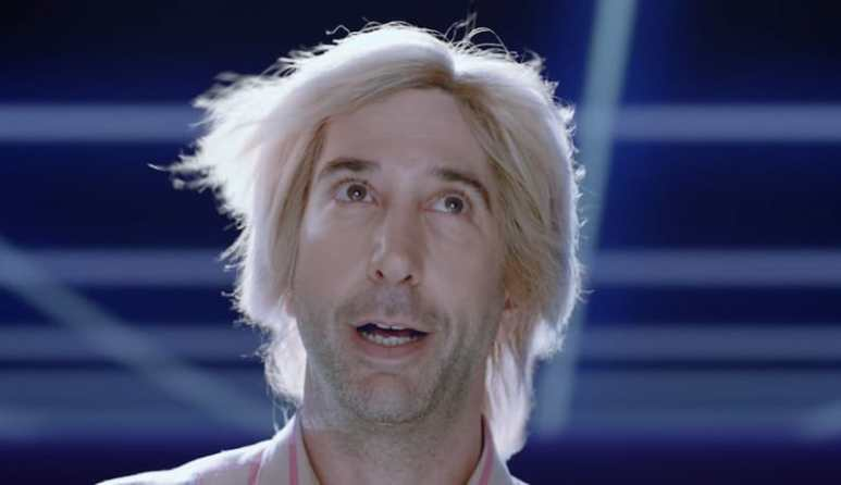David Schwimmer in 2018 Skittles Super Bowl commercial spot