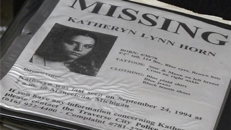 Katheryn Horn murder, missing flyer distributed at the time of her disappearance