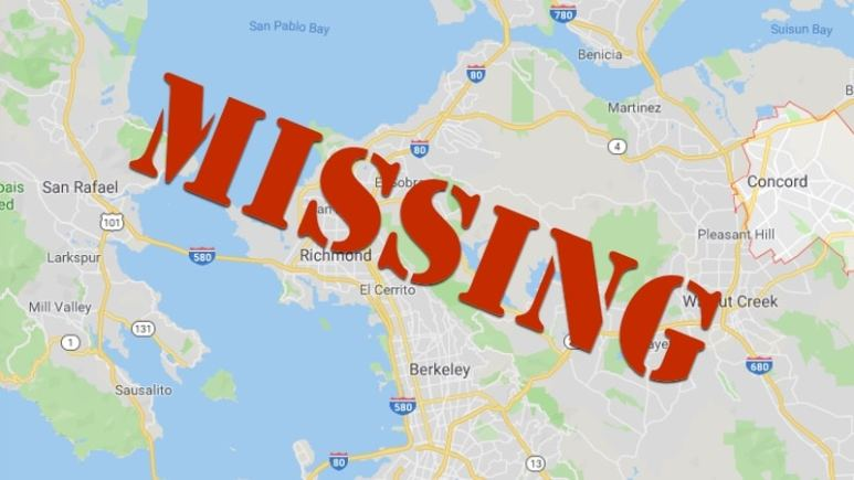 MIssing Persons banner over map
