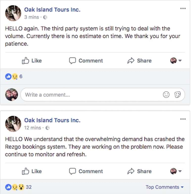 Oak Island tours comment