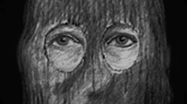 Golden State Killer's eyes with mask