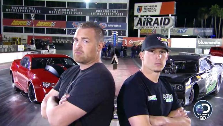 Ryan Martin and Alex Laughlin in Street Outlaws vs Fast N' Loud Mega Race 2 promo picture