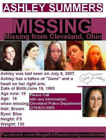 Ashley Summers missing poster